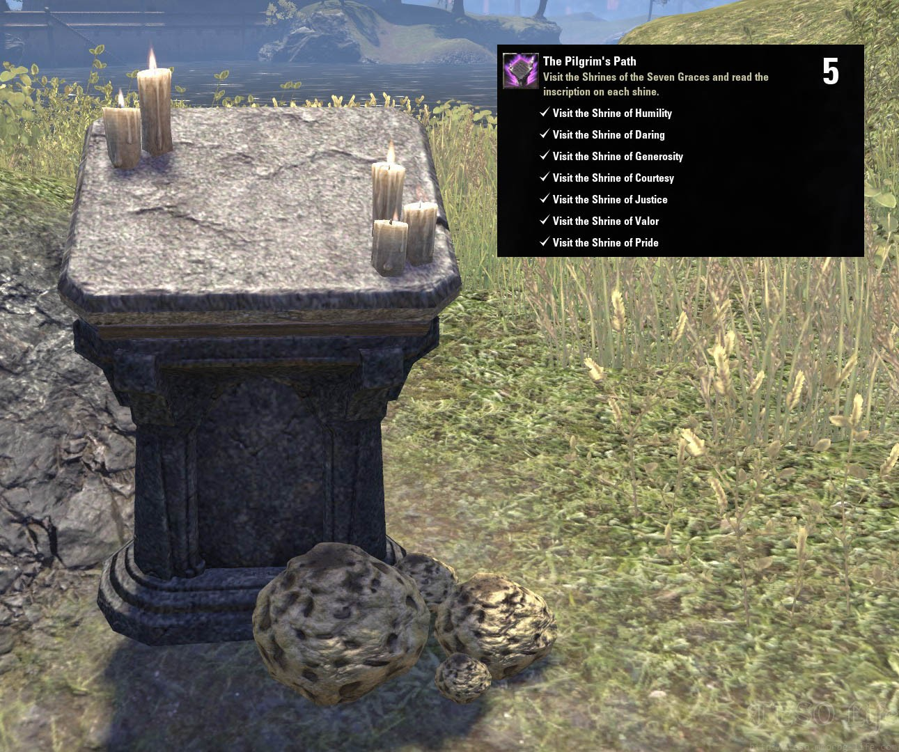 ESO Morrowind The Pilgrim's Path Achievement Trophy