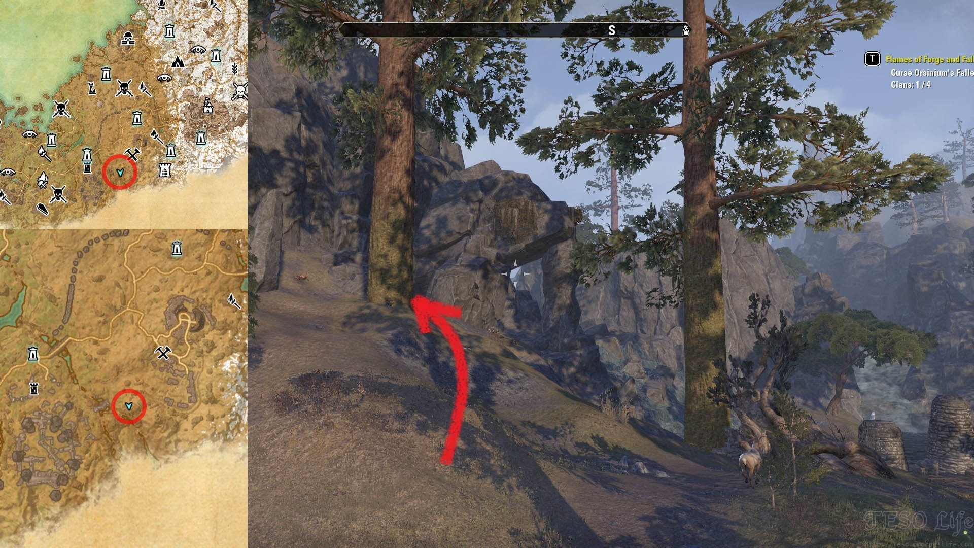 ESO Treasure Map 1 Location Wrothgar