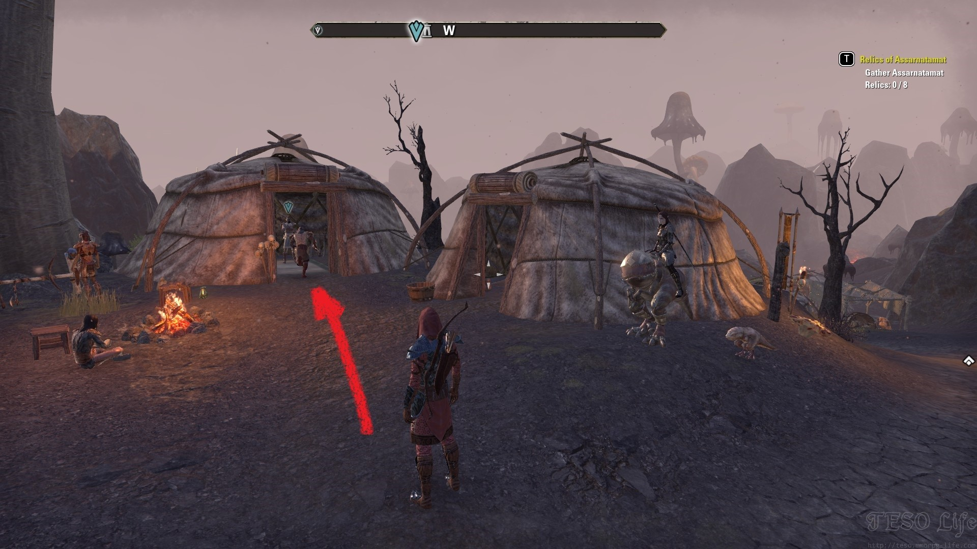 Huntmaster Sorim Nakar Daily Quest Start ESO Morrowind