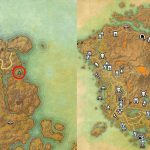 Map Location of Vvardenfell Treasure Map 2 ESO Morrowind