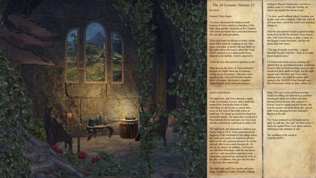 The 36 Lessons Sermon Books ESO Morrowind