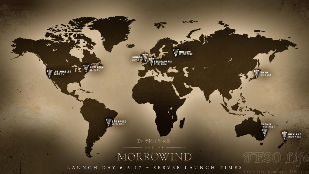 eso morrowind launch times
