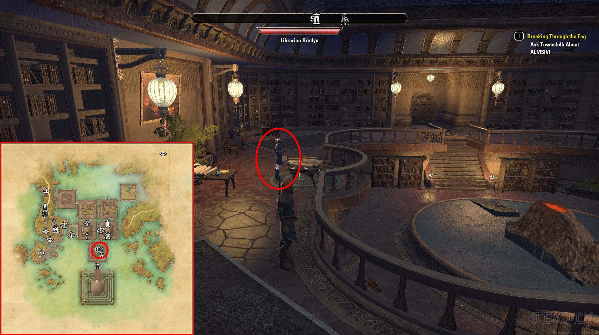 eso morrowind lost library quest