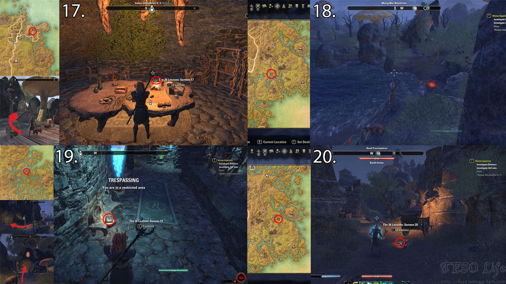 36 Sermon Locations in Vvardenfell ESO Morrowind