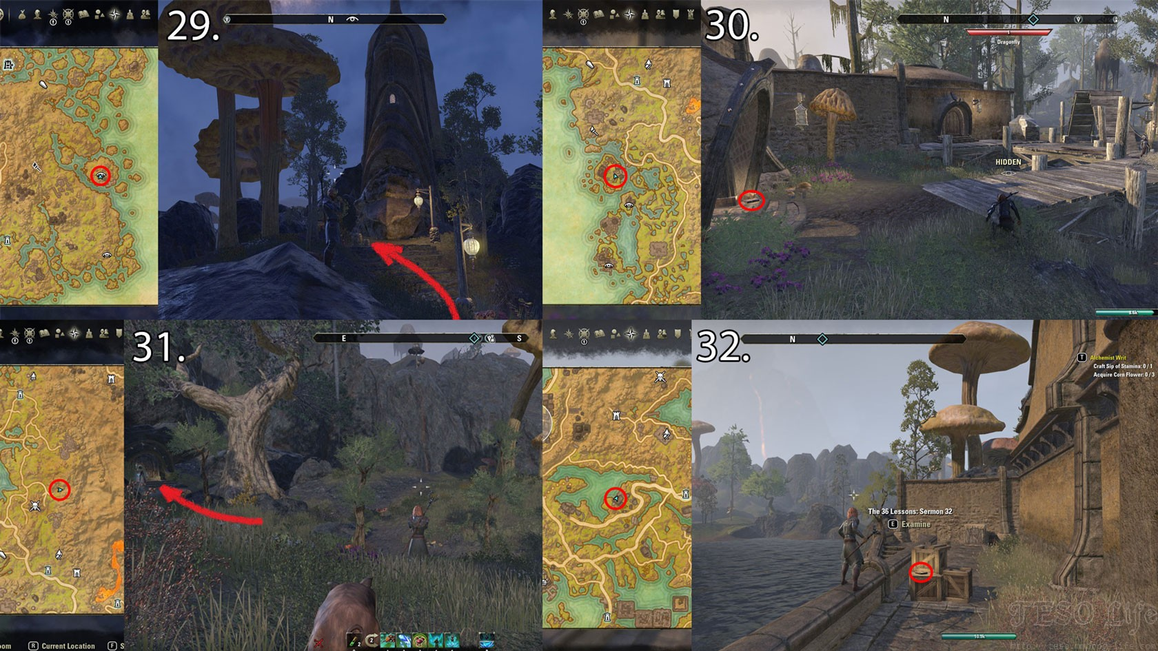 ESO Morrowind Sermon Book Locations in Vvardenfell