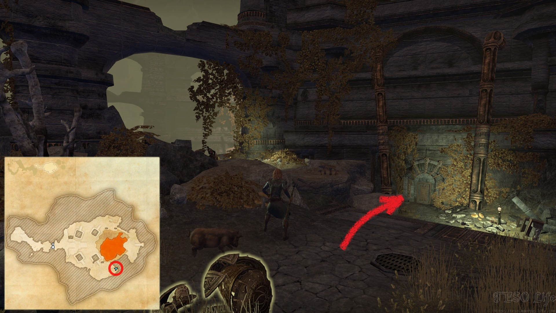 ESO Morrowind Nchuleftingth Core Entrance Door Location