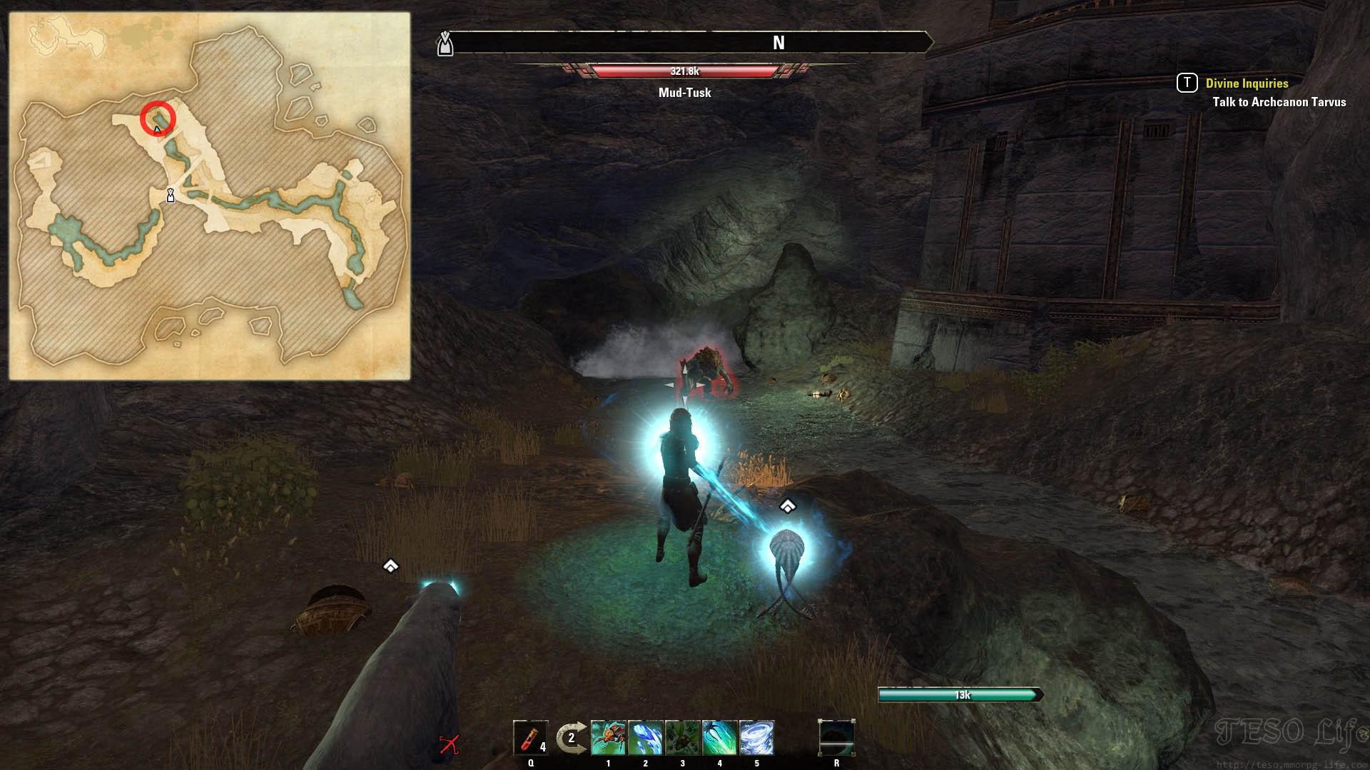 Nchuleftingth Boss Mud-Tusk Location ESO Morrowind