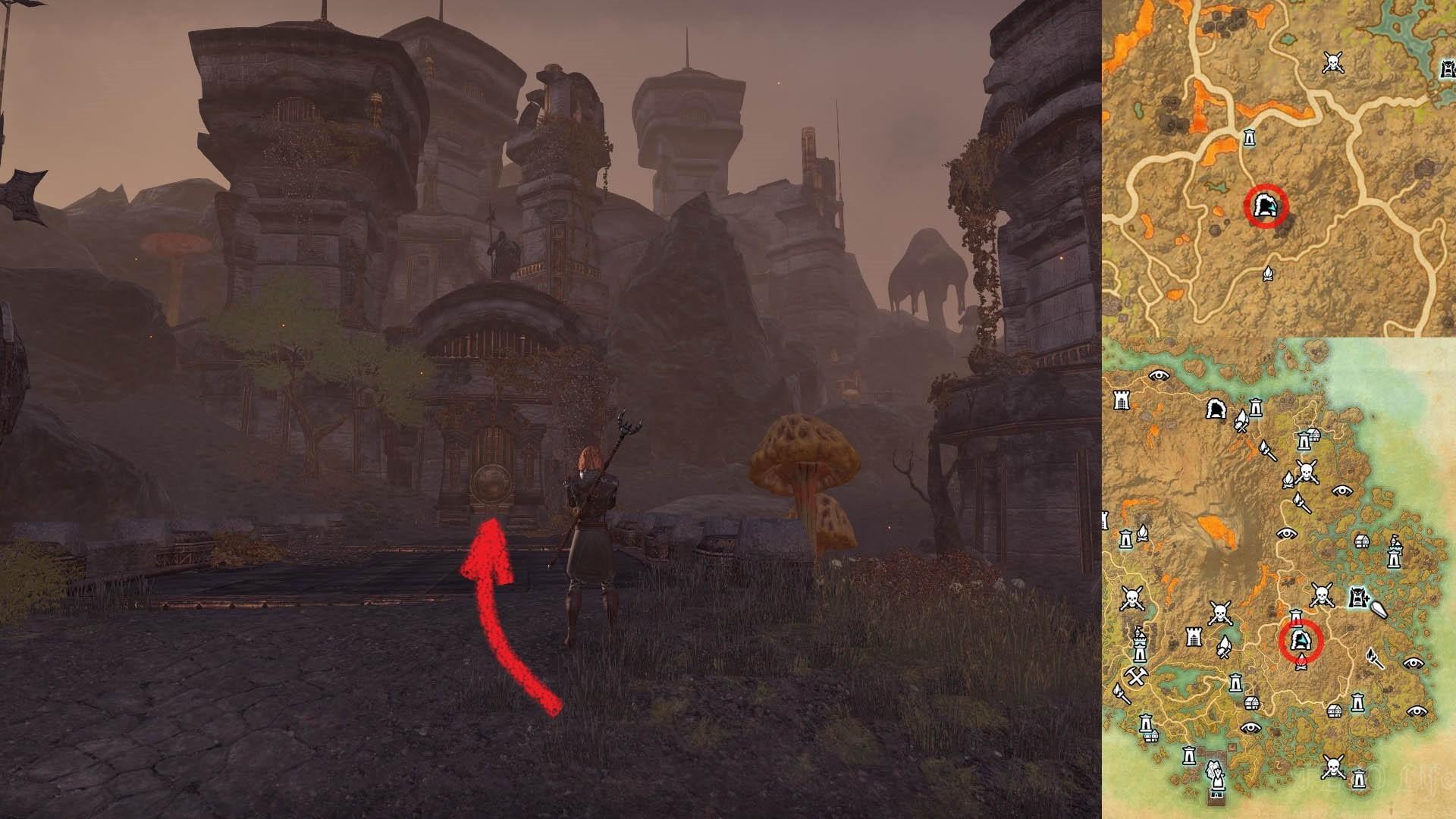 Nchuleftingth Dungeon Entrance ESO Morrowind