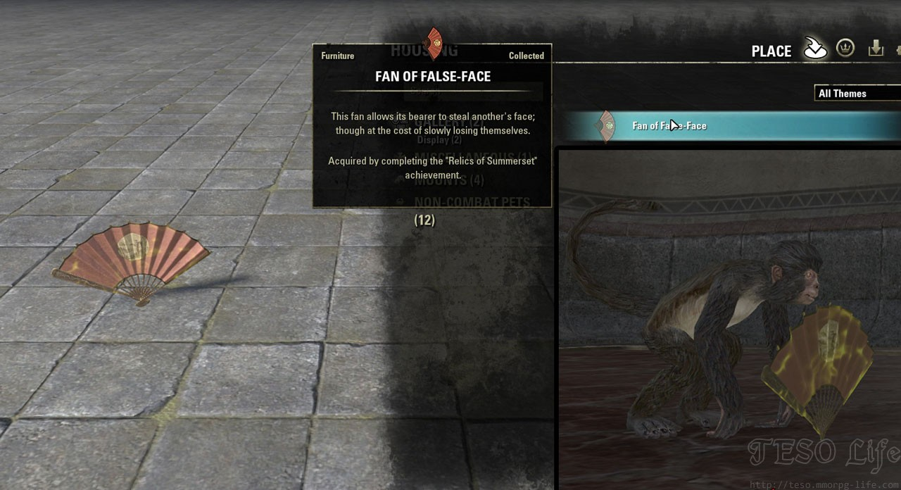 ESO Fan of False Face Furniture Item Look