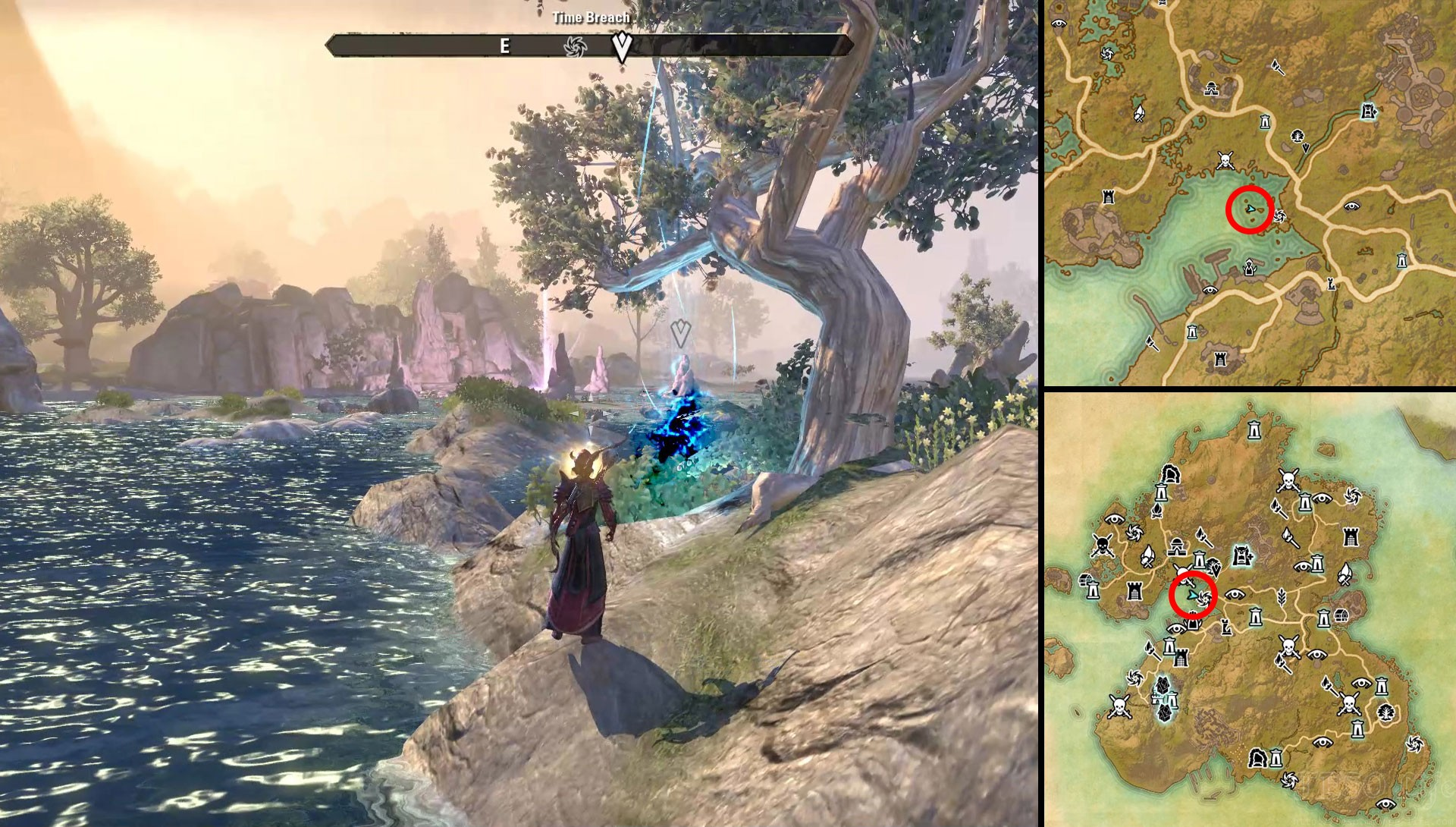 ESO Summerset Psijics Calling Quest Location of Time Breaches