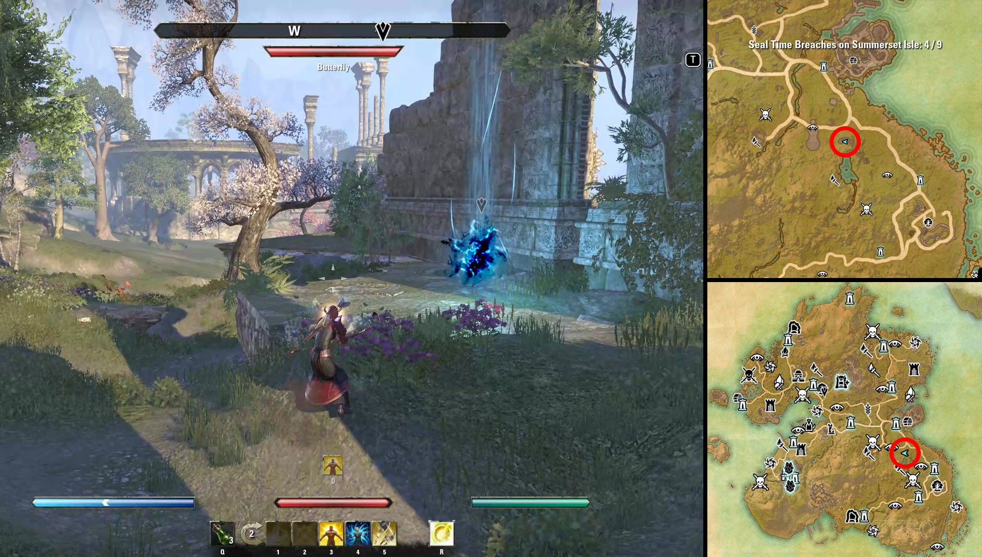 ESO SUmmerset Psijics Calling Seal Time Breach Locations