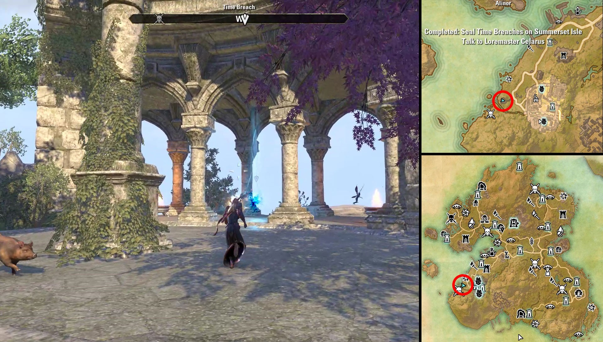 ESO Summerset Psijic's Calling Seal Time Breach Portals