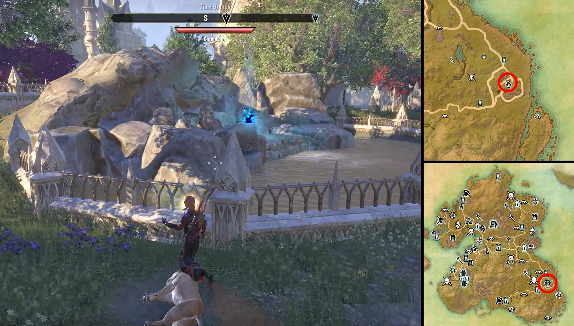 ESO Summerset Time Breach Summerset Location