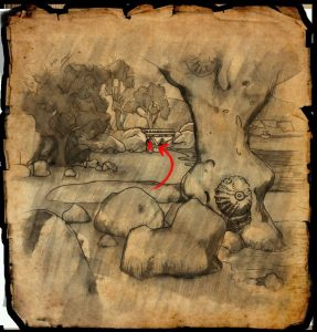 eso summerset treasure map 4 under bridge
