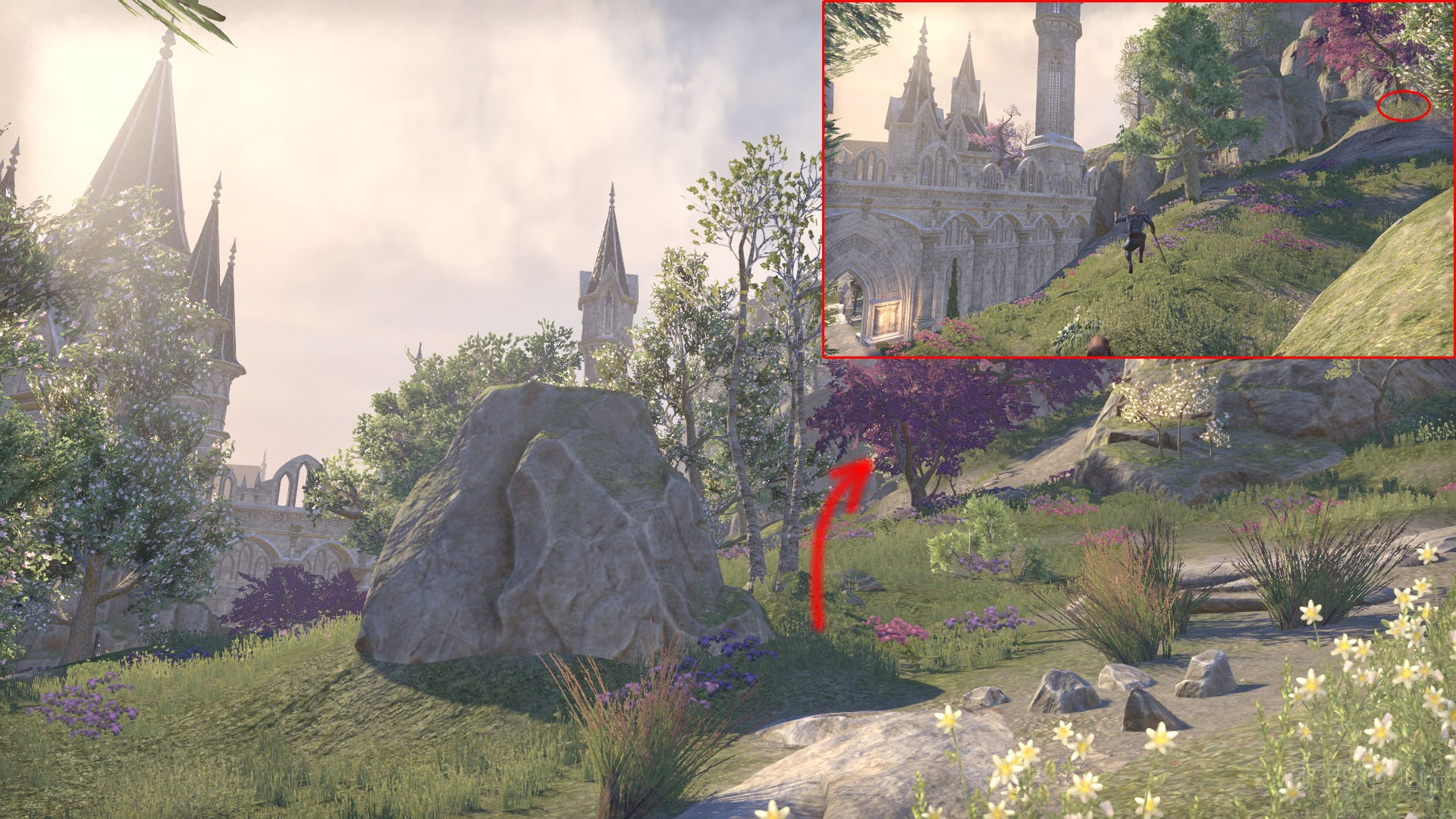eso summerset treasure map location tower forest