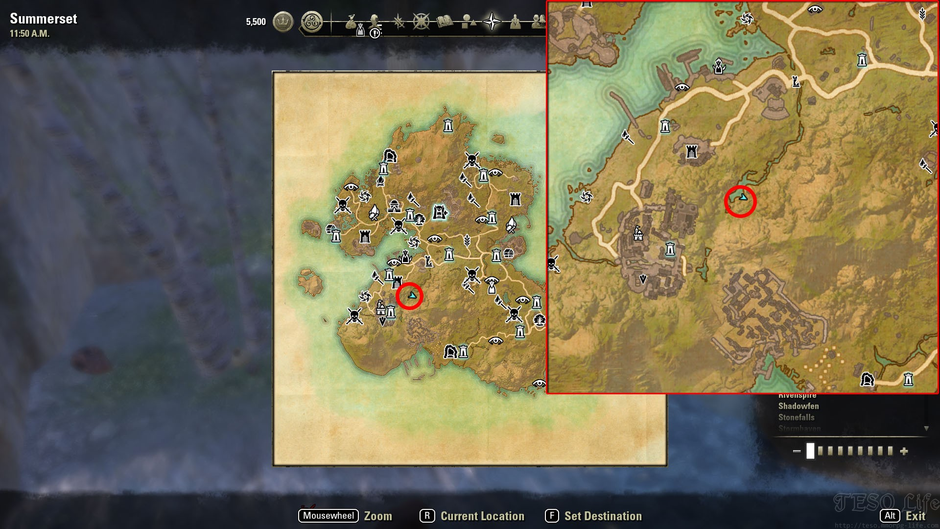 summerset treasure map giant nest