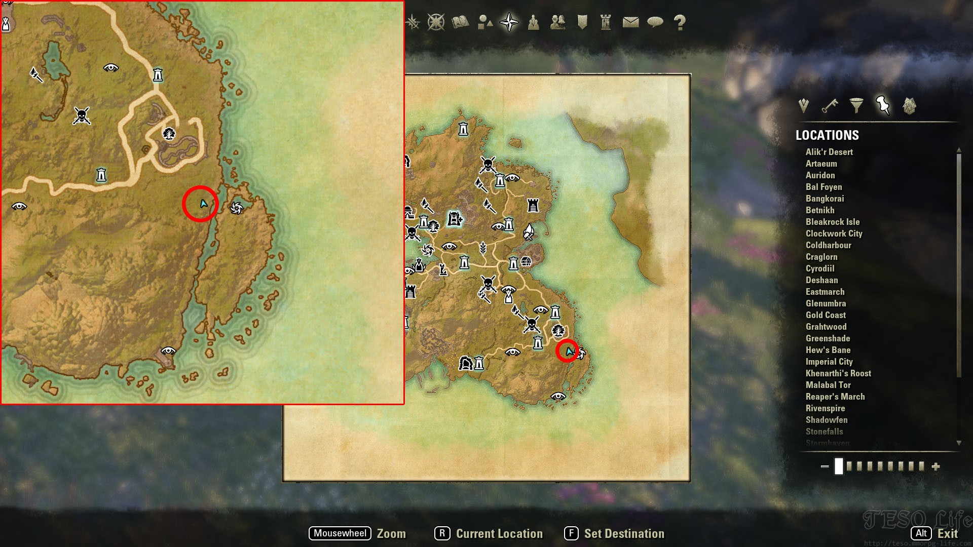 summerset treasure map tree riverside