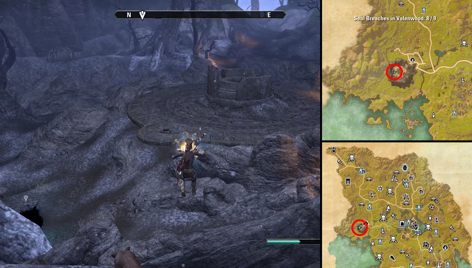 ESO A Breach Amid the Trees Grahtwood Time Breach Locations