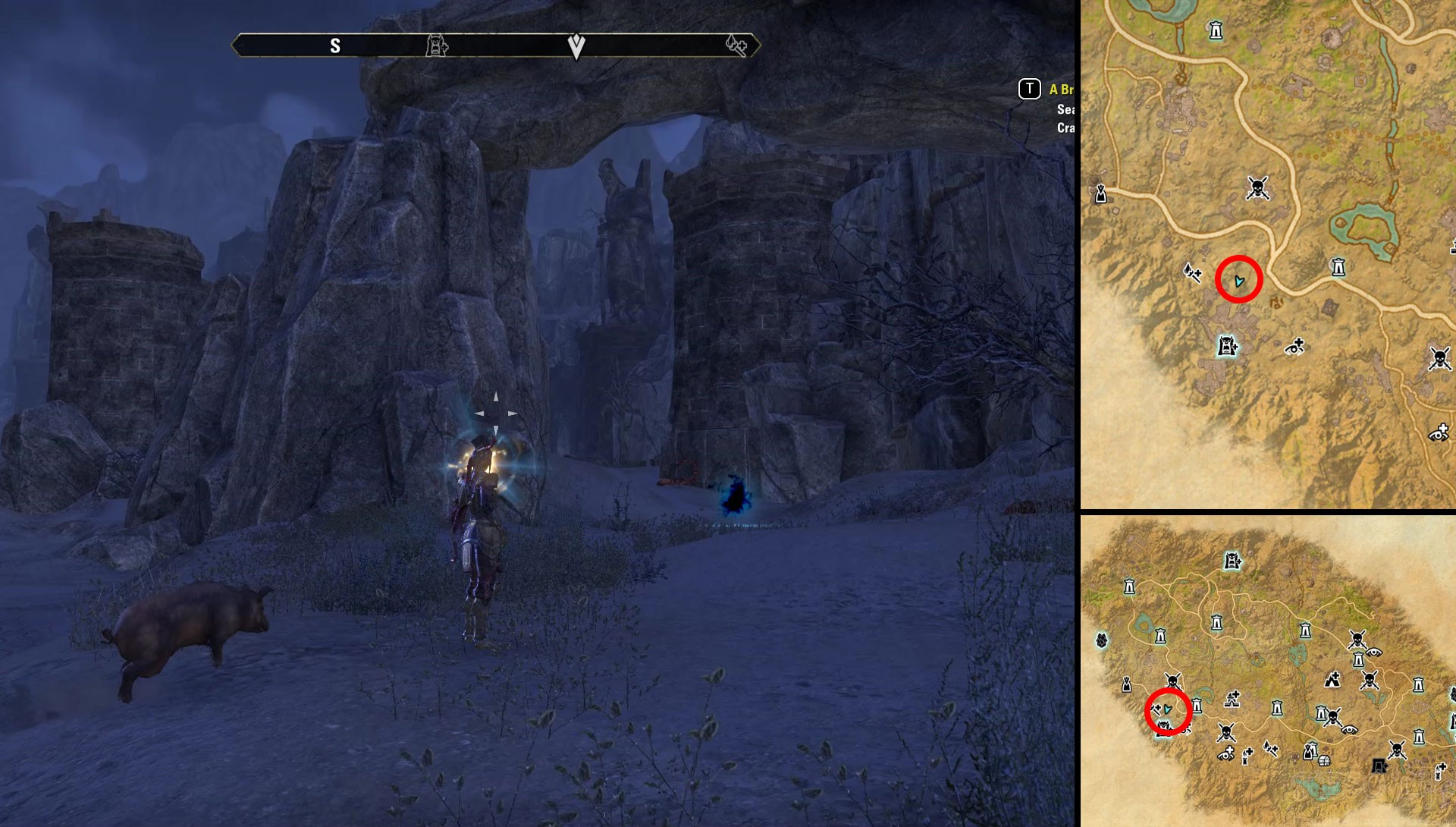 ESO Breach Beyond the Crags Quest Seal Breach Location