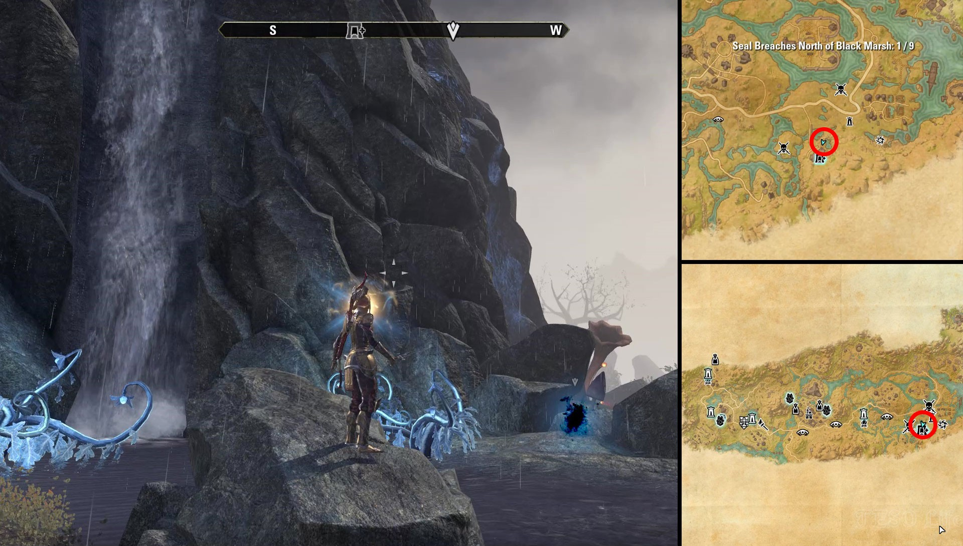 ESO Deshaan Black Marsh Time Breach Location