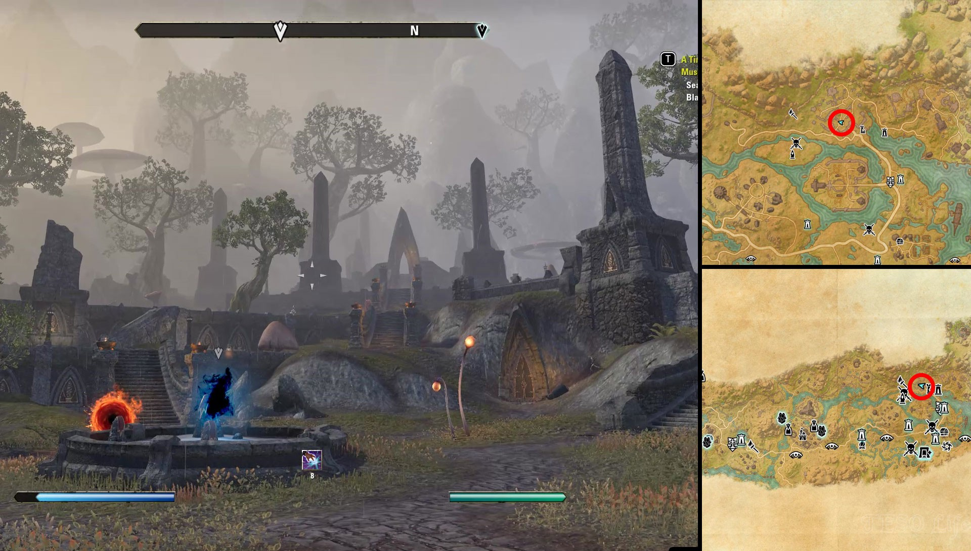 ESO Deshaan Seal Breach Location Black Marsh