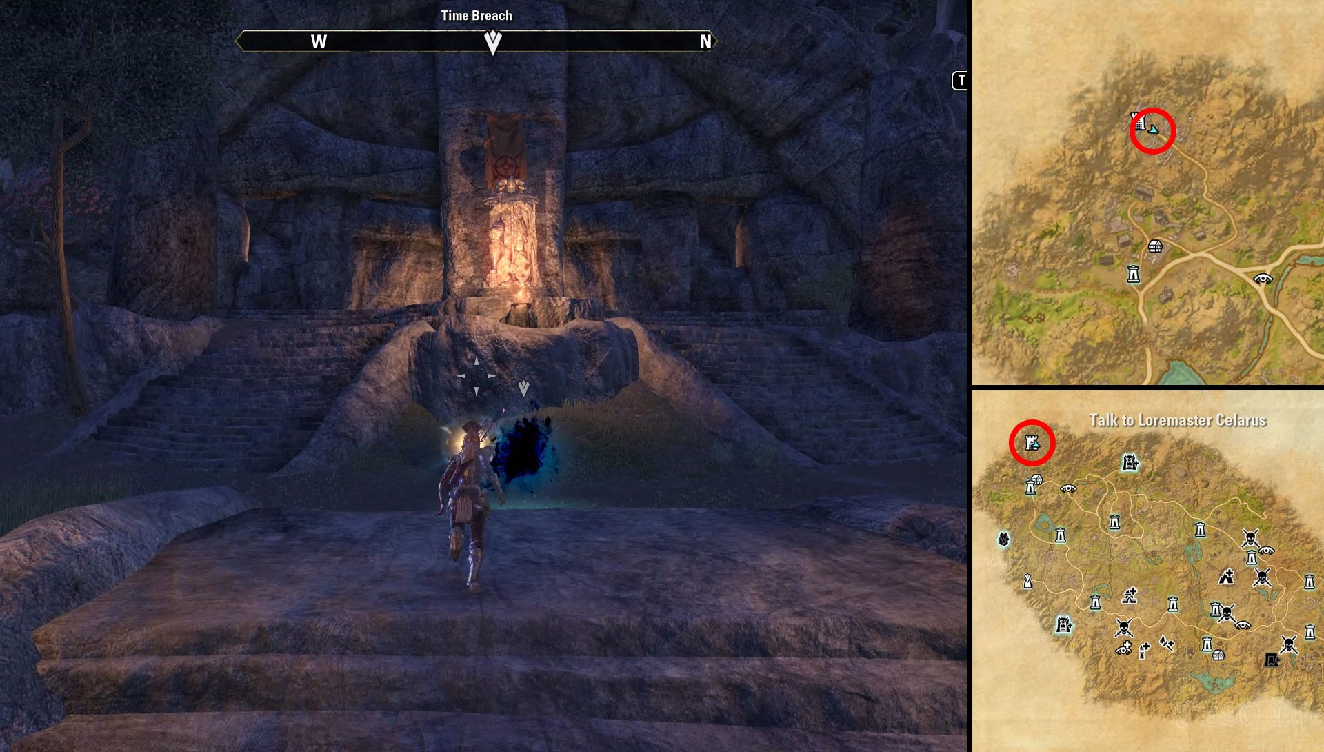 ESO Location of all Craglorn Time Breaches to Seal