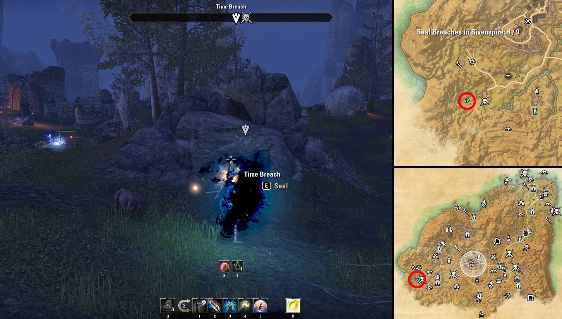 ESO Psijic Time Breach in Rivenspire Time in Doomcrag's Shadow Quest