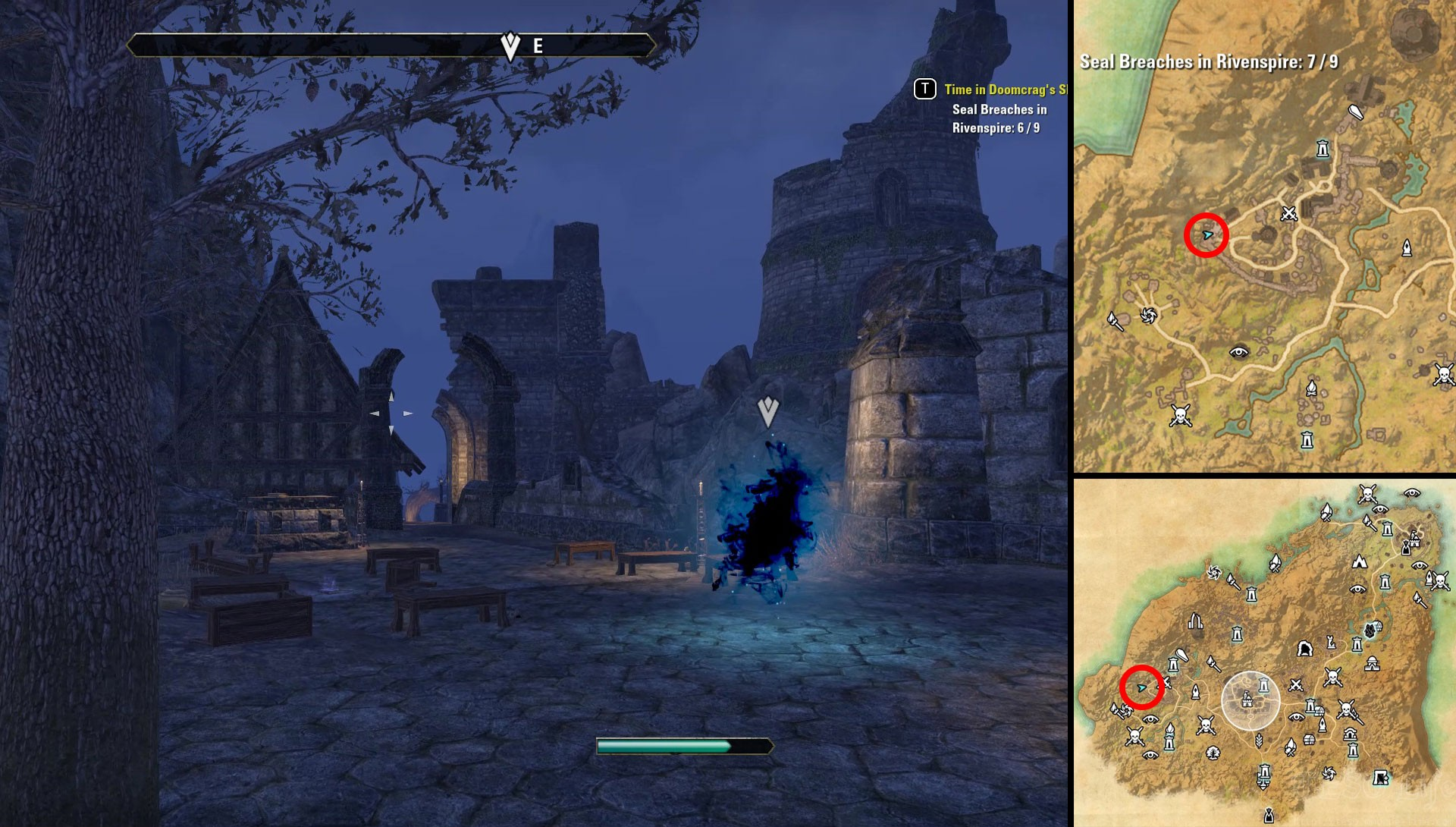 ESO Rivenspire Time in Doomcrag's Shadow Seal Breach Locations