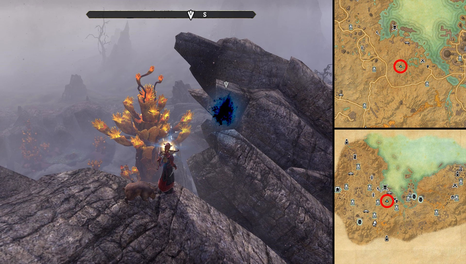 ESO Stonefalls Seal Breach Location Frost and Fire Quest