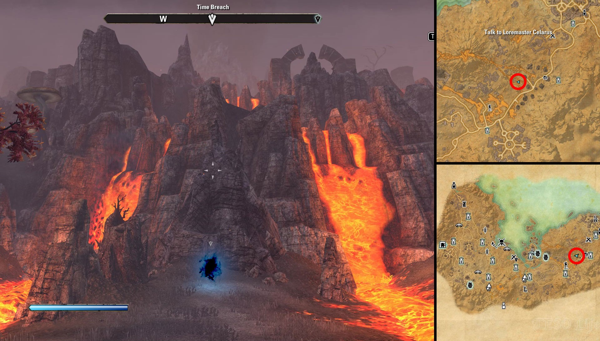 ESO Stonefalls Time Breach Location Frost and Fire Quest