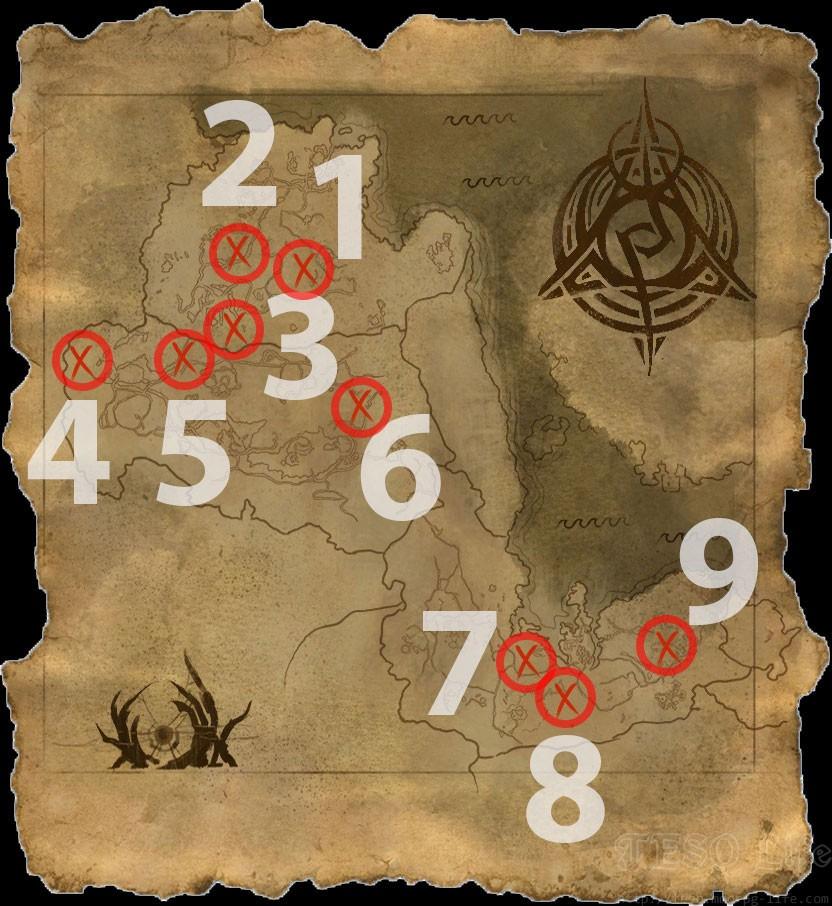 ESO Summerset Psijic Map of Morrowind and Skyrim