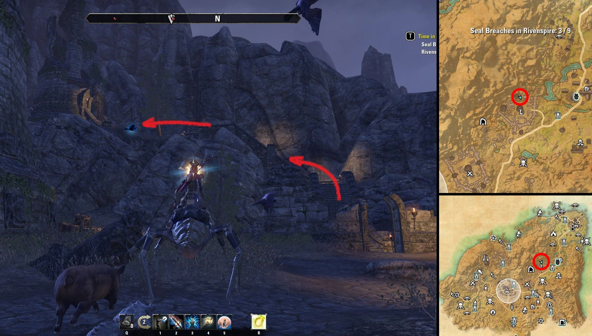 ESO Time in Doomcrag's Shadow Rivenspire Time Breach Locations