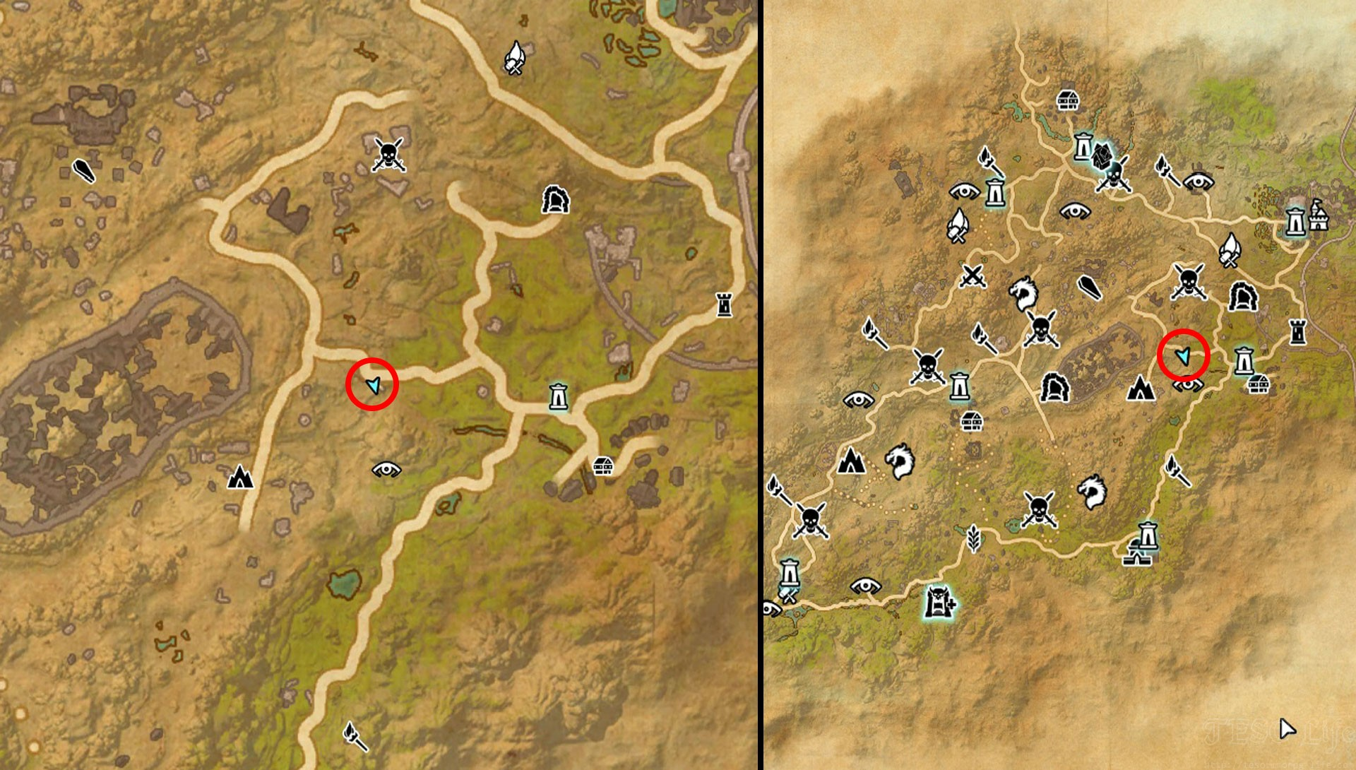 TESO Northern Elsweyr Treasure Map VI Map Location