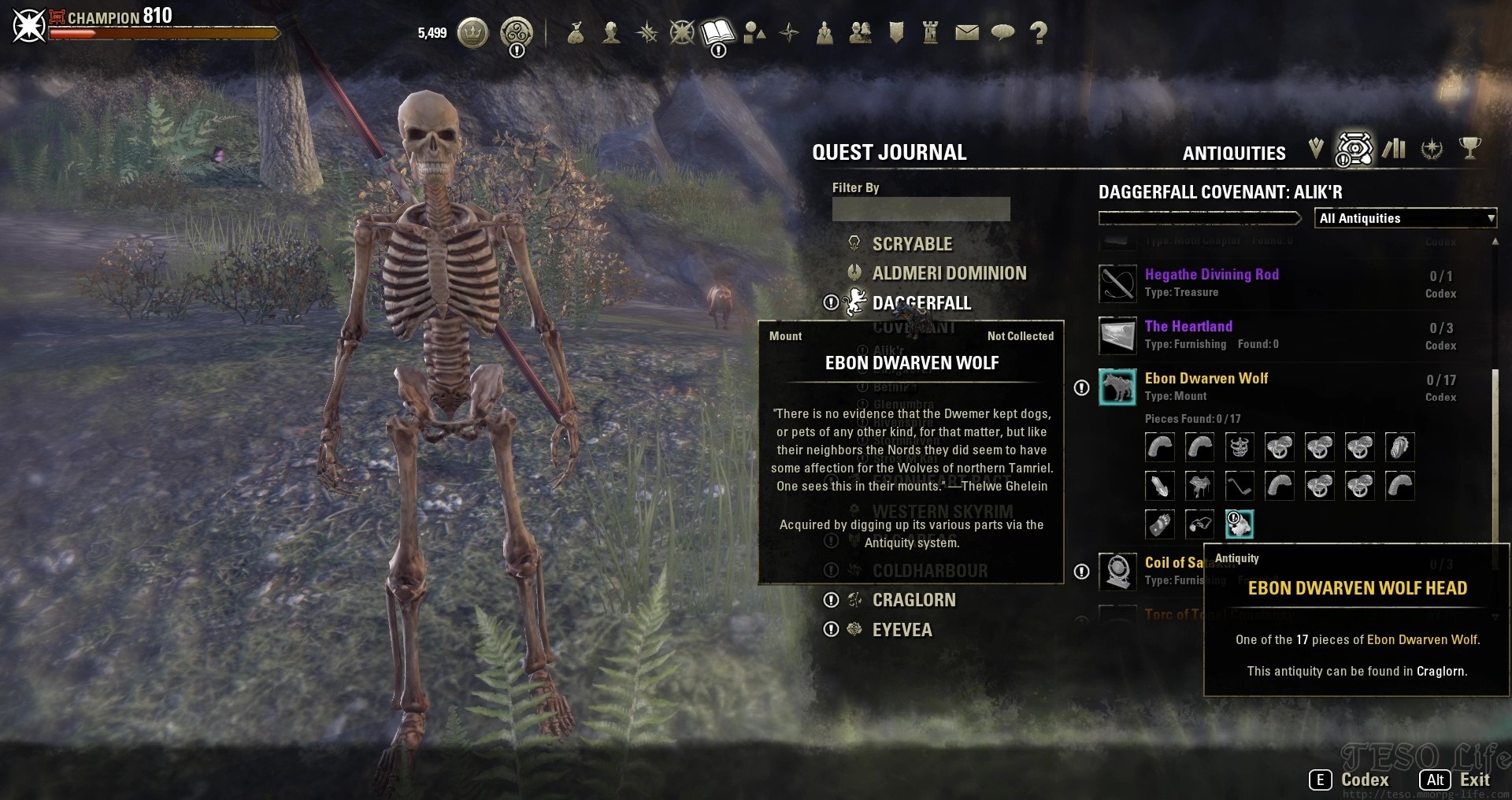 ESO Antiquities Leads Locations Hidden Entry Names