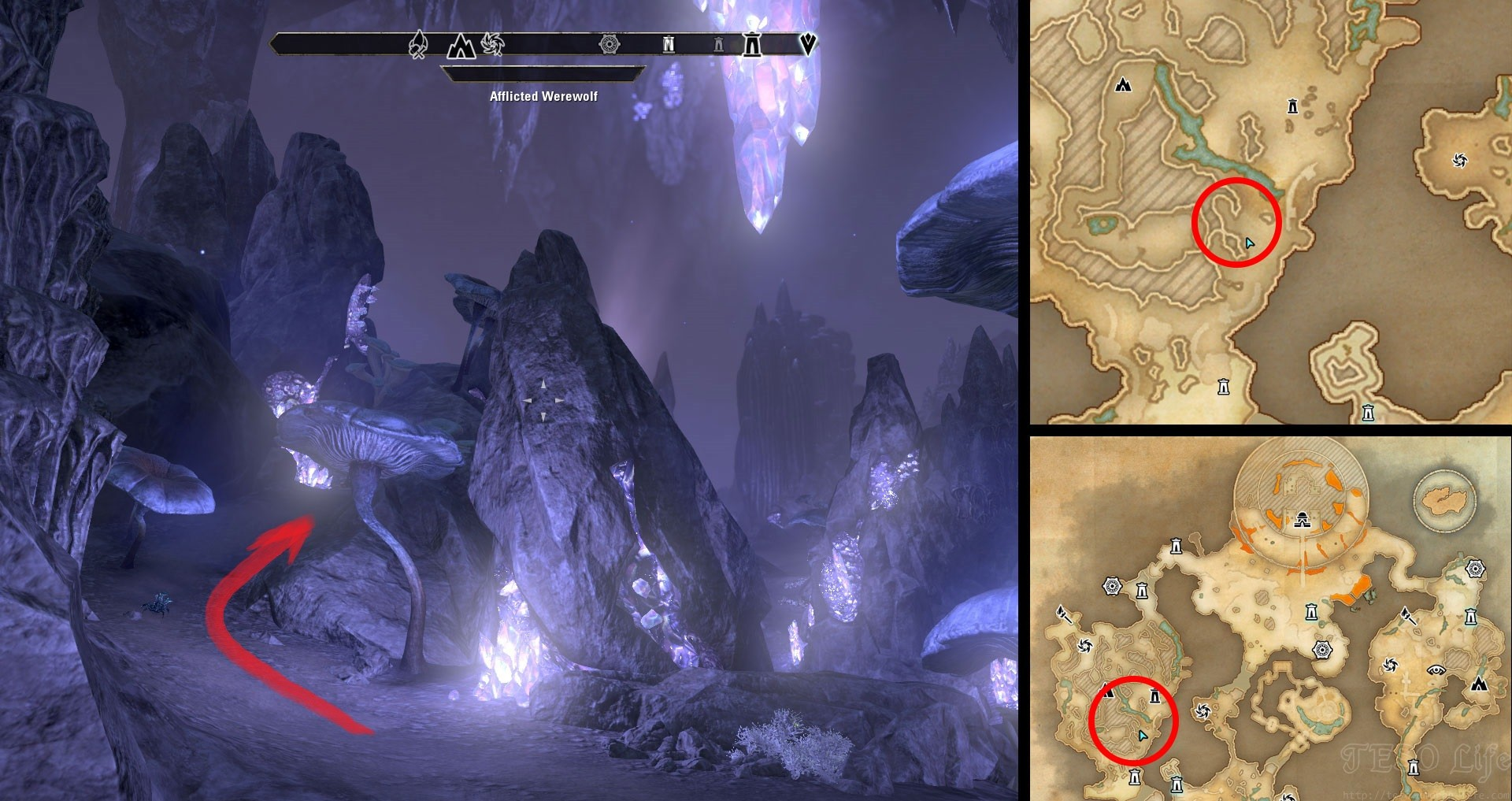 ESO Blackreach Treasure Map 2 Location