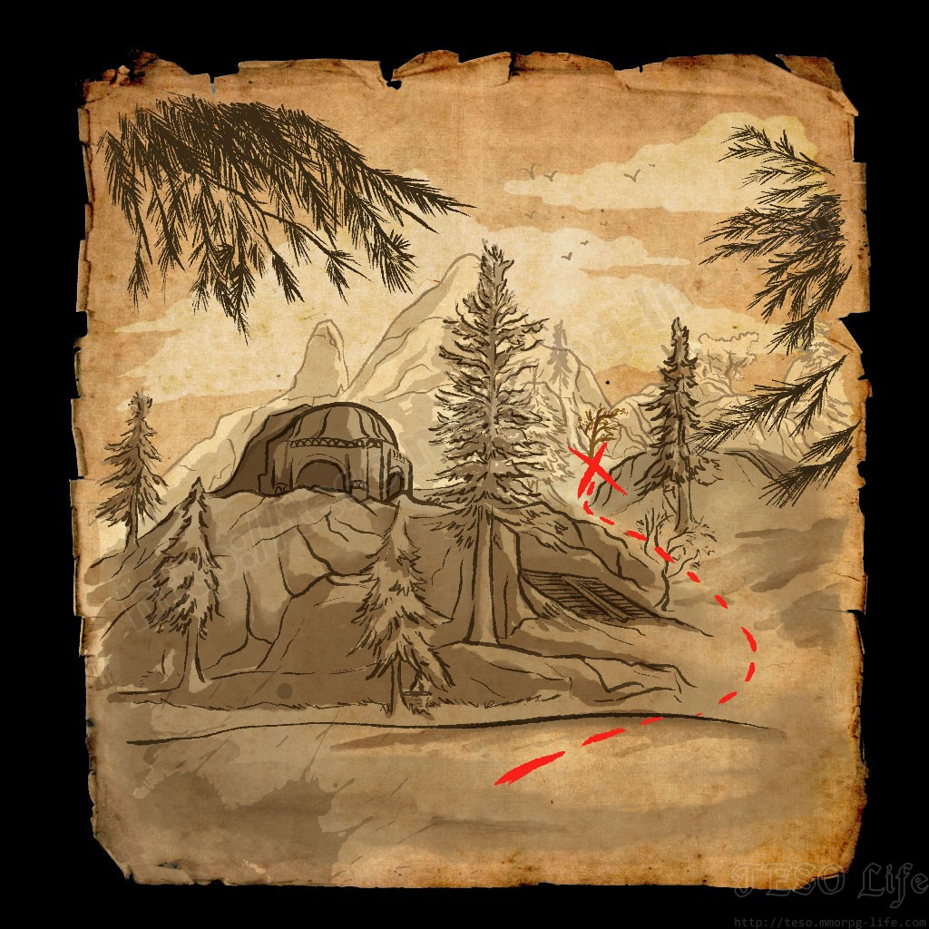 ESO Western Skyrim Treasure Map 2