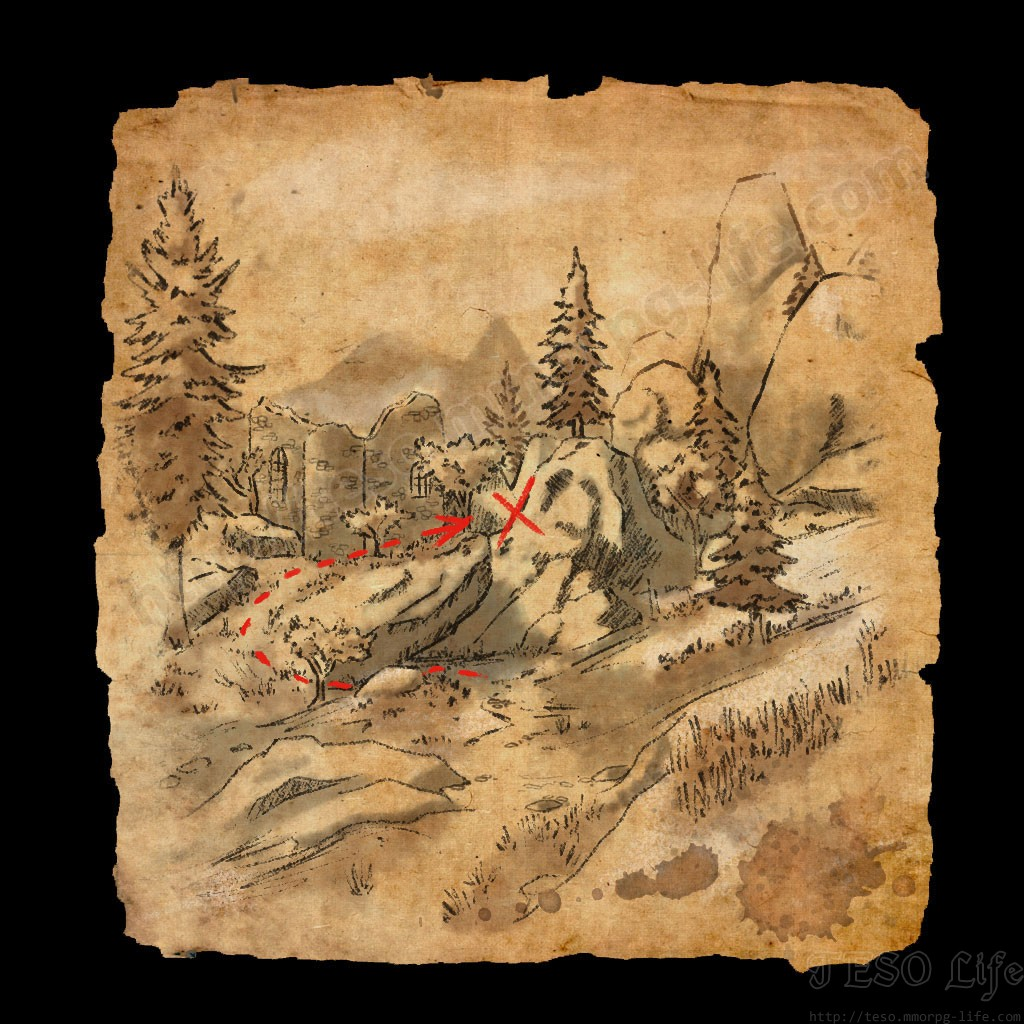 ESO Western Skyrim Treasure Map 4