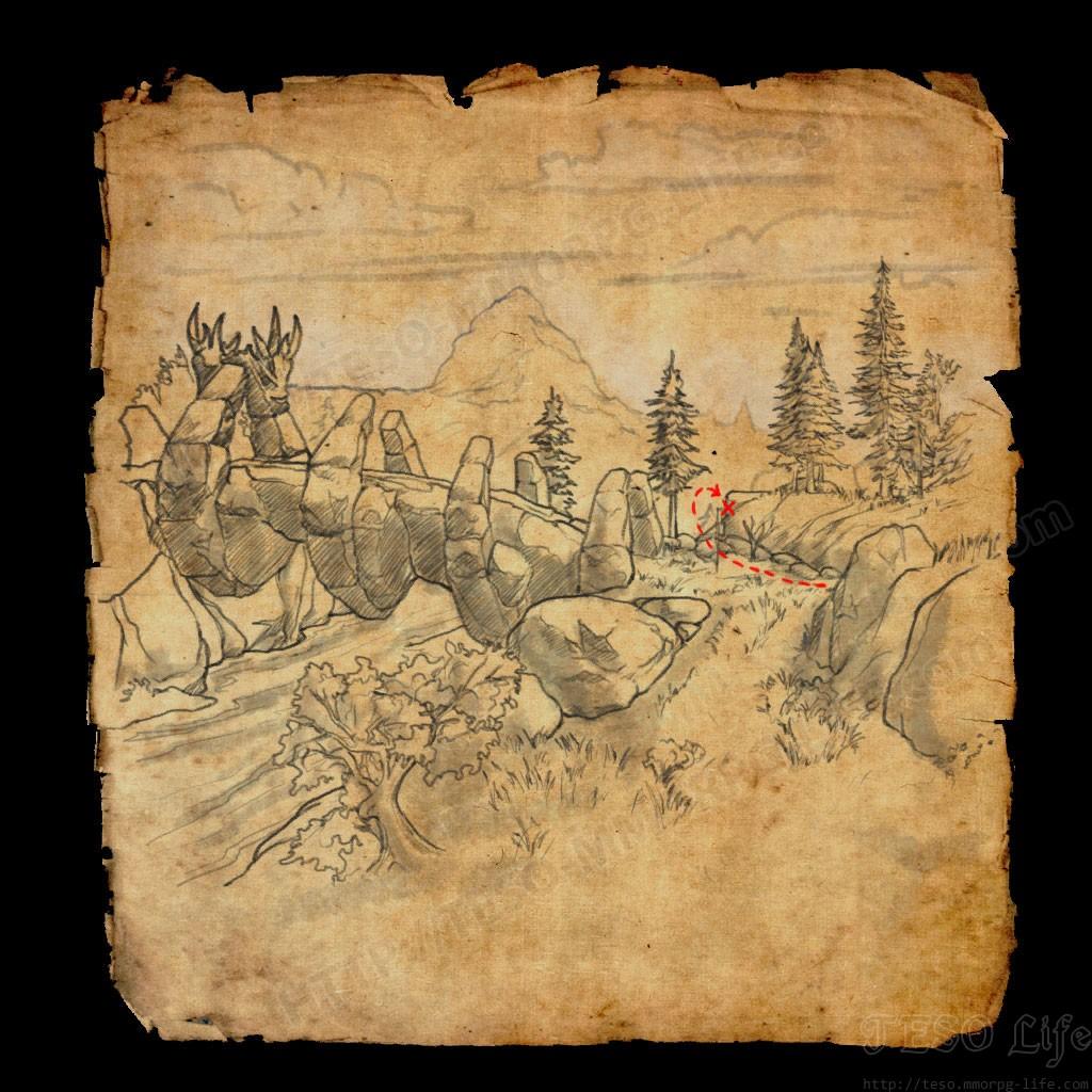 ESO Western Skyrim Treasure Map CE