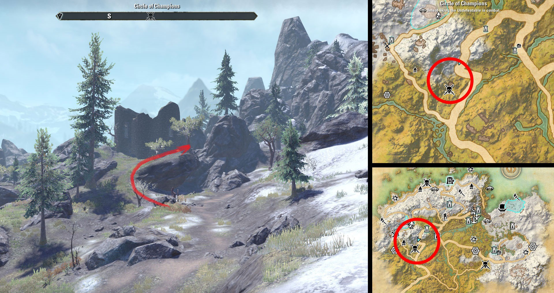 Greymoor Western Skyrim Treasure Map 4 Location ESO